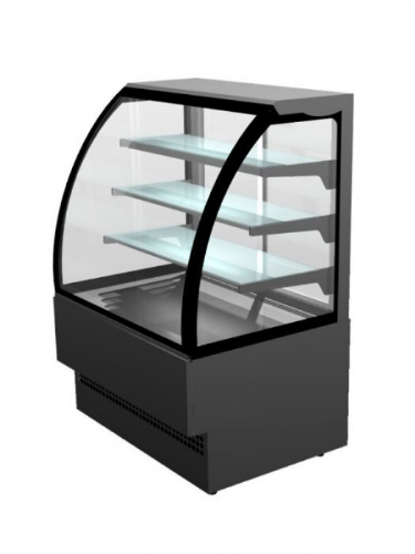 Sterling Pro EVO90-BLACK Patisserie Counter, 0.9m / 1.41m² Deck